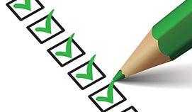 Checklist with Green Pencil