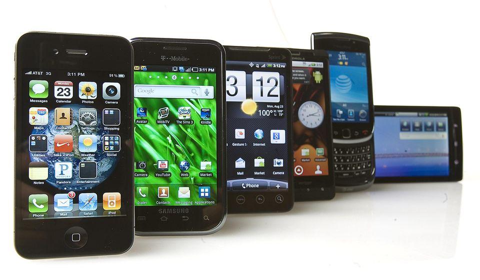 Variety of Smartphones
