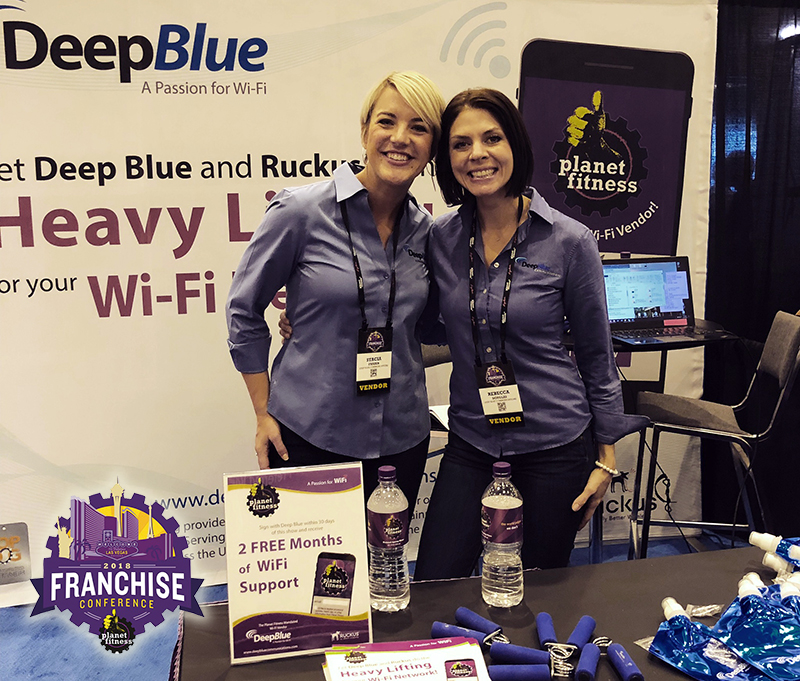 Deep Blue Exhibits at 2018 Planet Fitness Franchise Conference