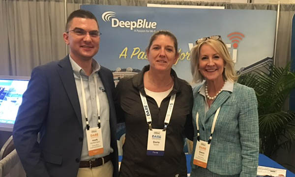 Deep Blue Communications Rod Mano, Gwen Purtell and Mark VanKempen