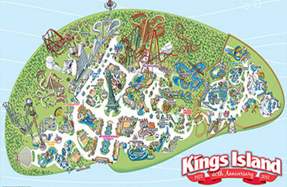Map of Kings Island