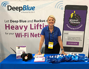 Stacia Frazer Deep Blue Communications PFIFA 2019 booth